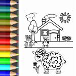 Bild zum ausmalen Tiere und Bauernhof
