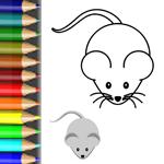 Vorlage ausmalen Tiere vom Bauernhof Malbild Maus