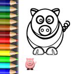 Malen Tiere vom Bauernhof Ausmalbild Schwein