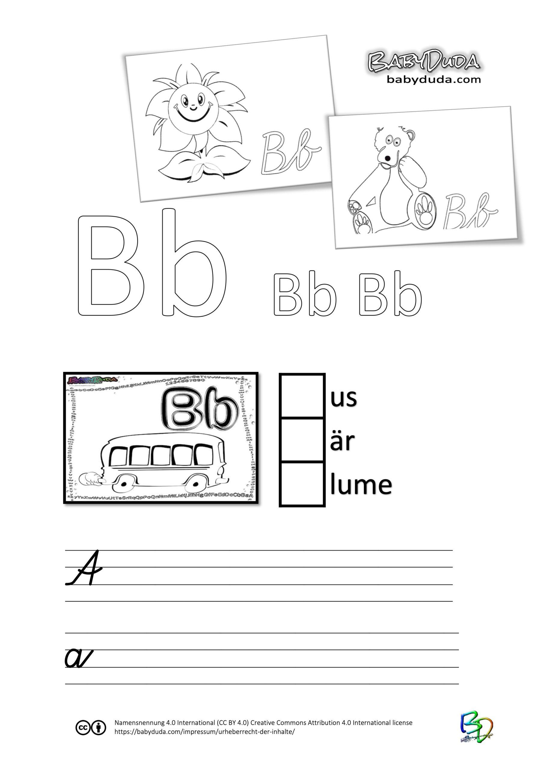 ABC-Ausmalbuch-Arbeitsblatt-B