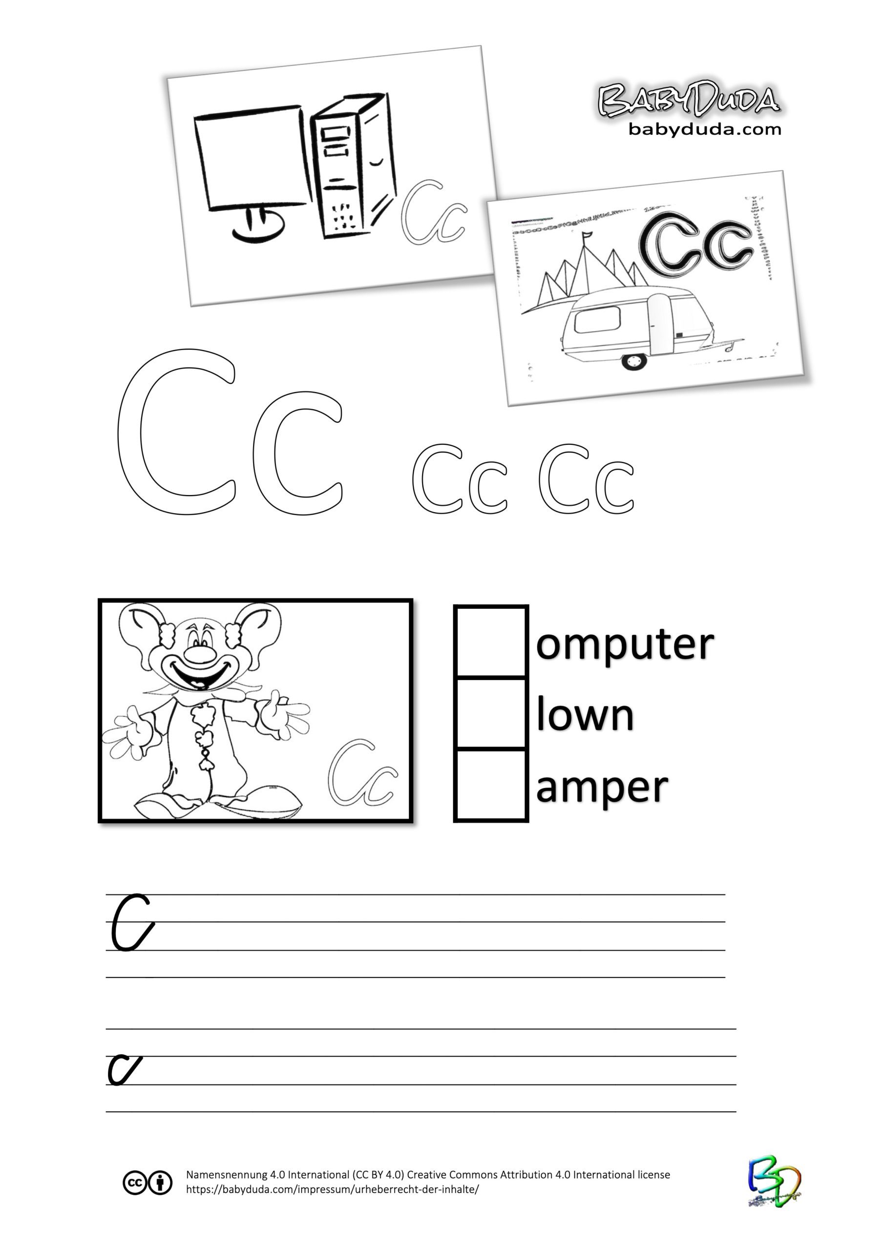 ABC-Ausmalbuch-Arbeitsblatt-C