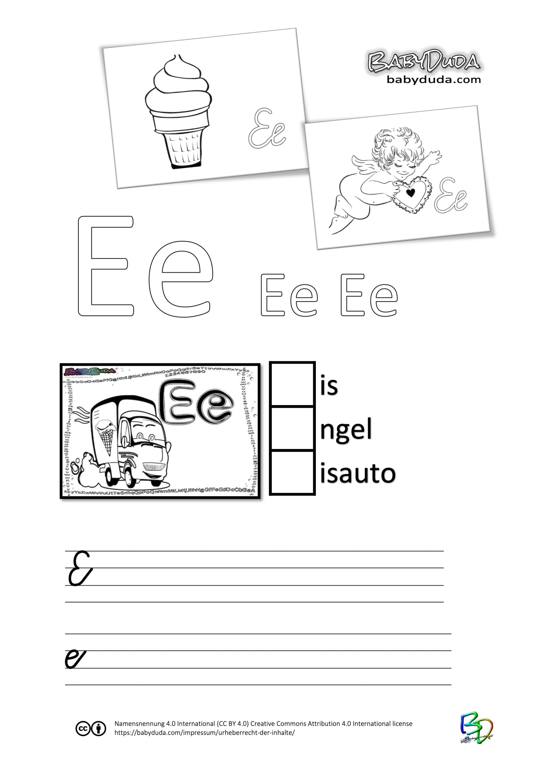 ABC-Ausmalbuch-Arbeitsblatt-E