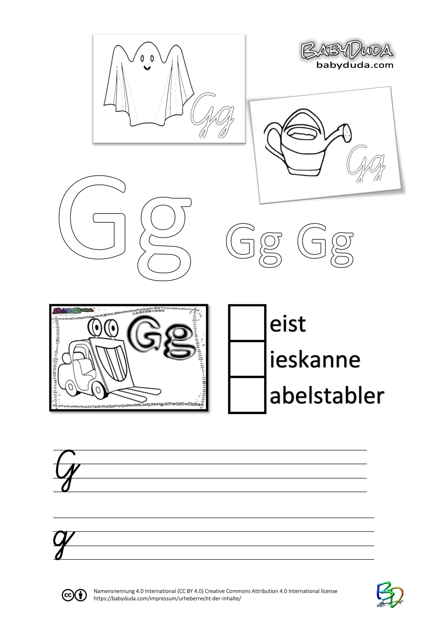 ABC-Ausmalbuch-Arbeitsblatt-G