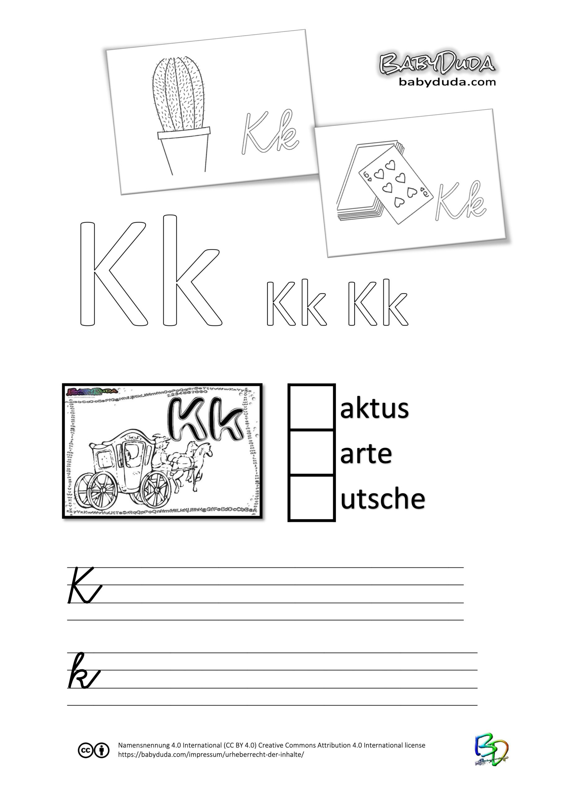 ABC-Ausmalbuch-Arbeitsblatt-K