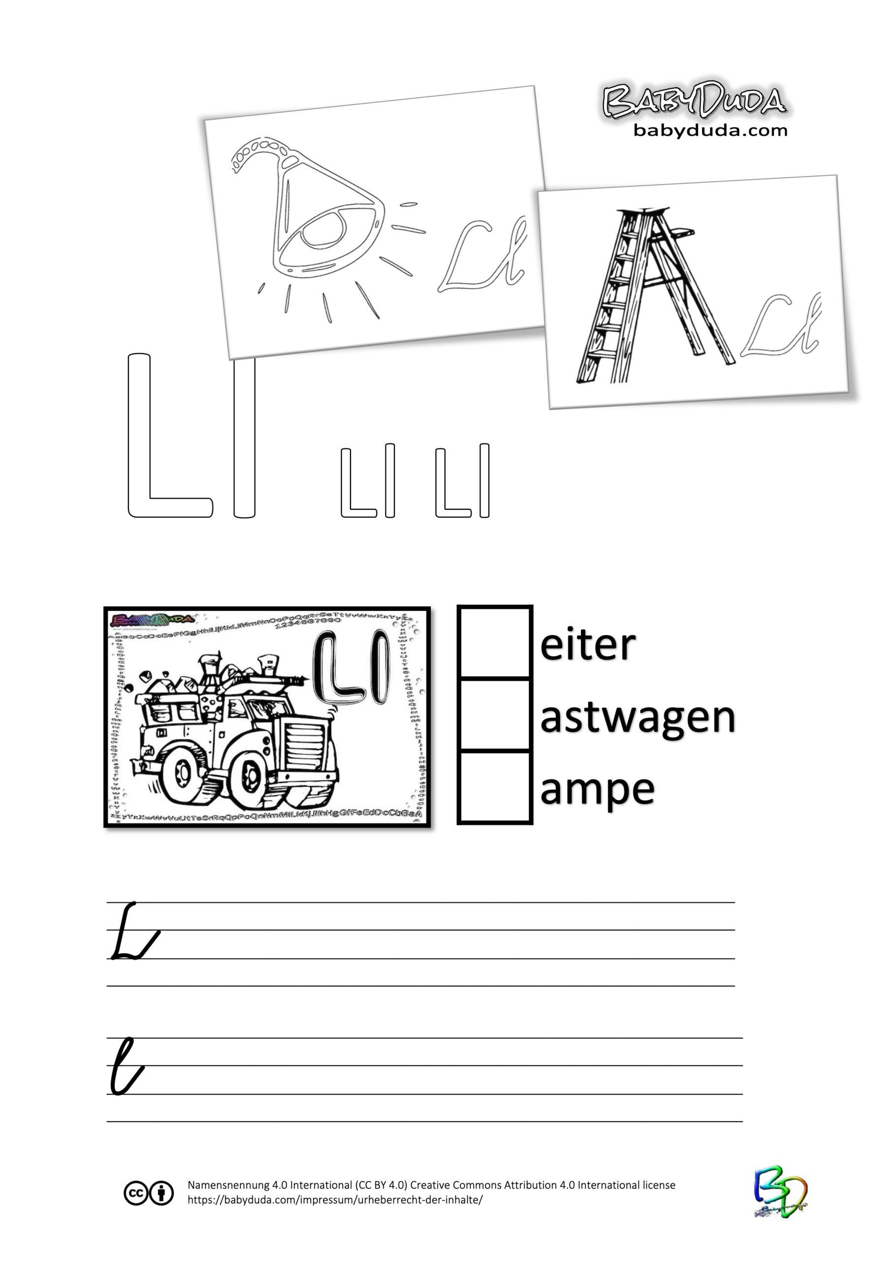 ABC-Ausmalbuch-Arbeitsblatt-L