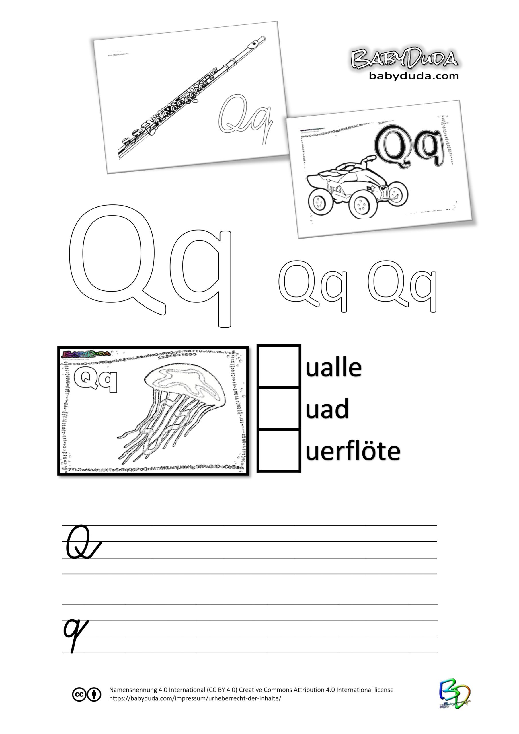 ABC-Ausmalbuch-Arbeitsblatt-Q