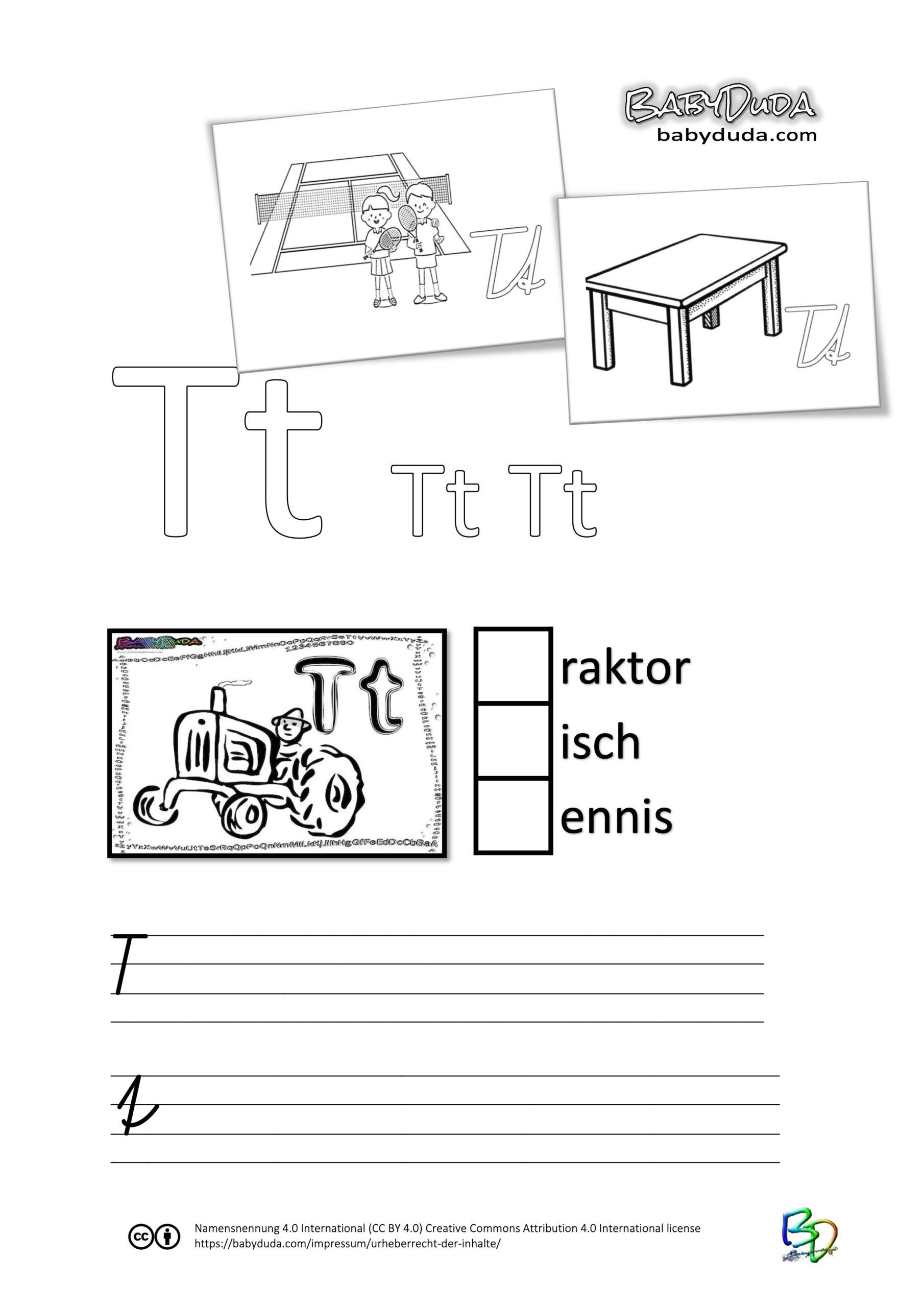 ABC-Ausmalbuch-Arbeitsblatt-T