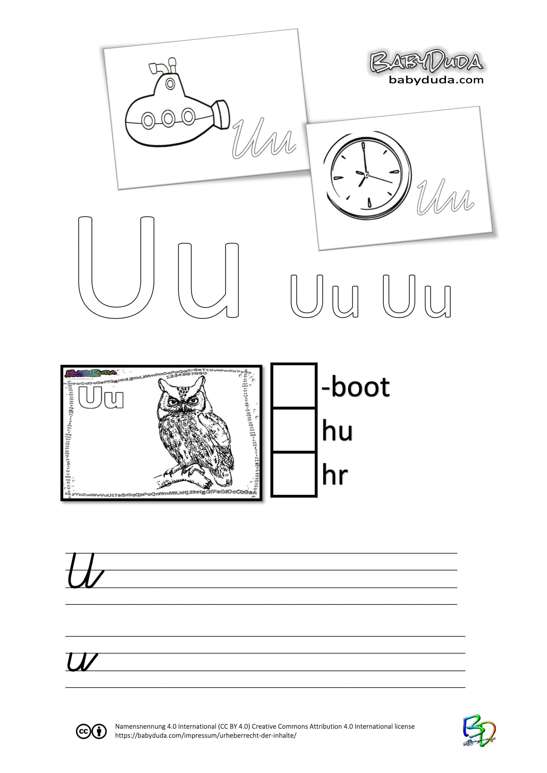 ABC-Ausmalbuch-Arbeitsblatt-U