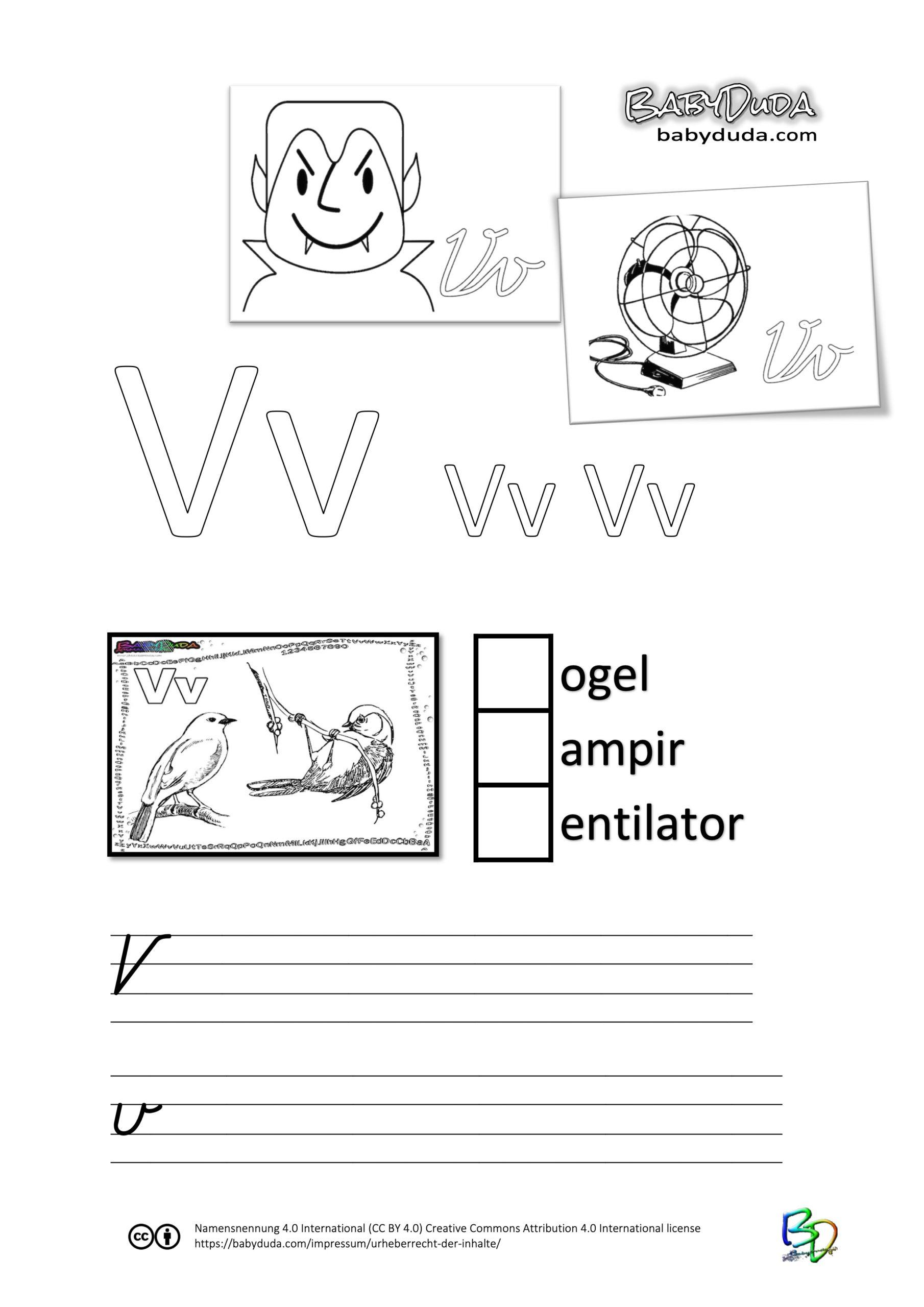 ABC-Ausmalbuch-Arbeitsblatt-V