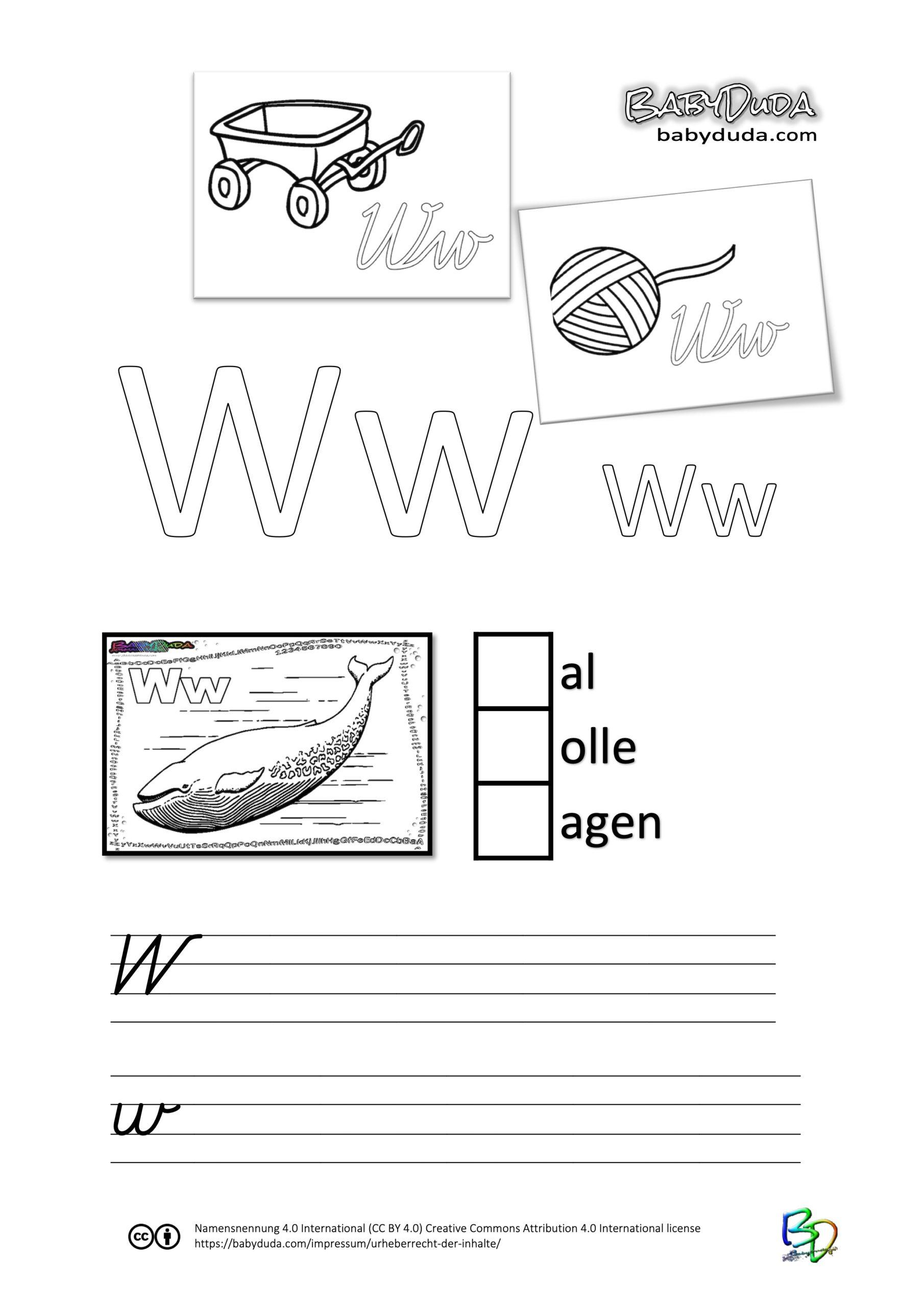 ABC-Ausmalbuch-Arbeitsblatt-W