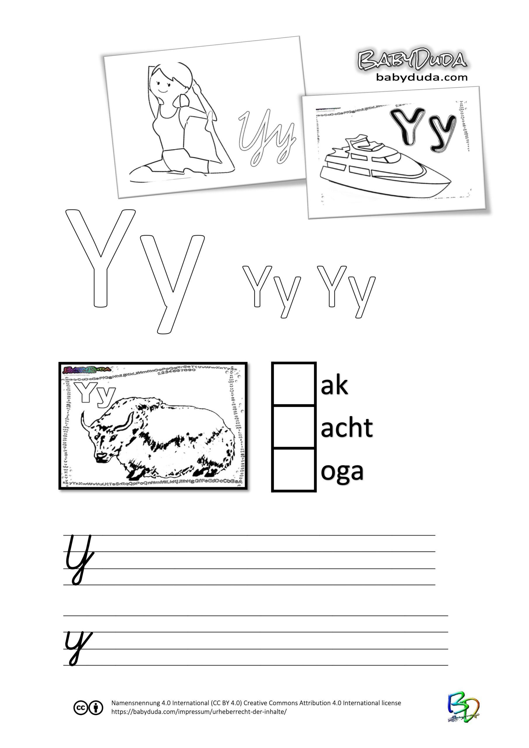 ABC-Ausmalbuch-Arbeitsblatt-Y