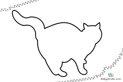 Katzenumriss Ausmalbild - Malvorlage Tierbilder ausmalen