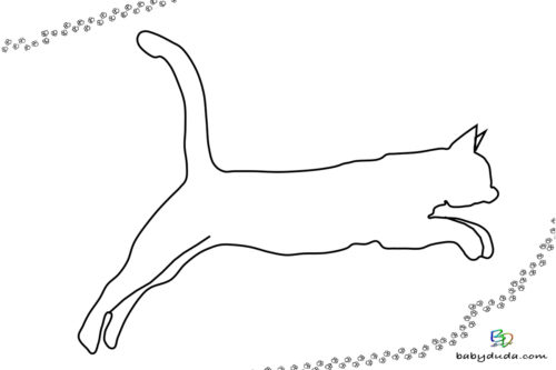 Umriss Katze - Malvorlage Tierbilder ausmalen