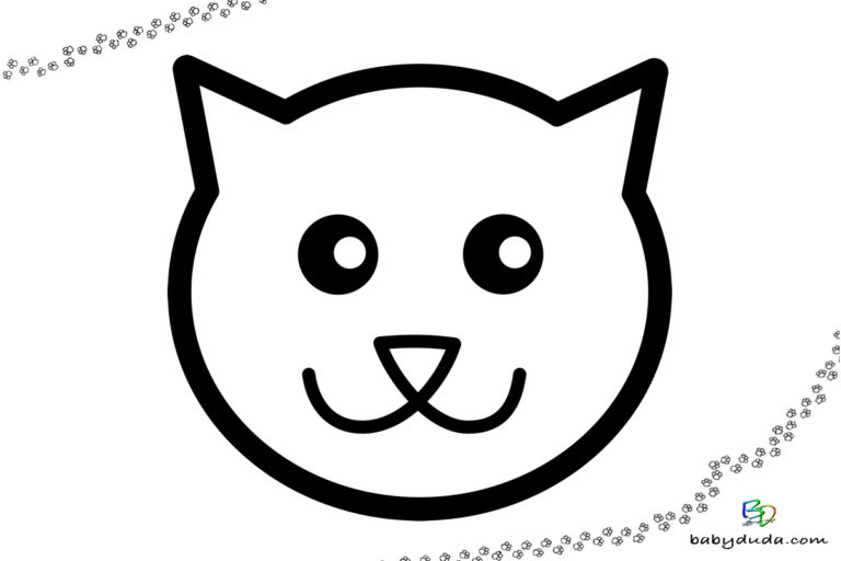 ausmalbilder katzen  kätzchen  katzenvorlagen  babyduda