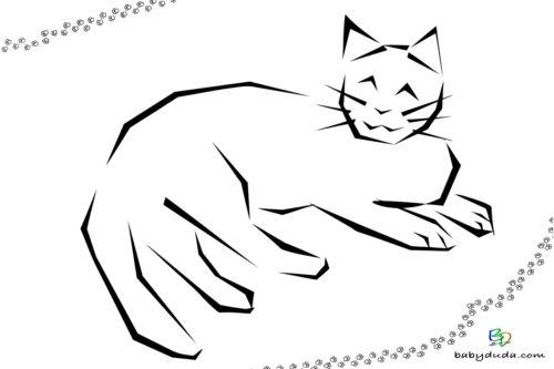 Katzenbild - Malvorlage Tierbilder ausmalen