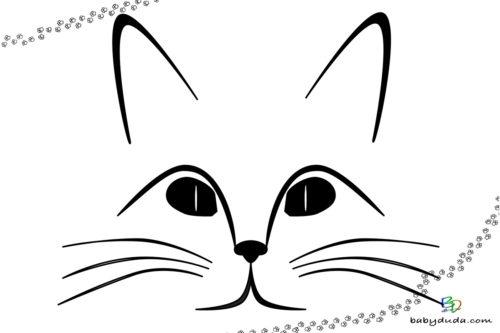Katzenkopf Vorlage Ausmalen - Malvorlage Tierbilder ausmalen