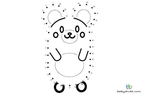 Malen nach Zahlen - Vorlagen für Kinder Drucken | BabyDuda » Malbuch