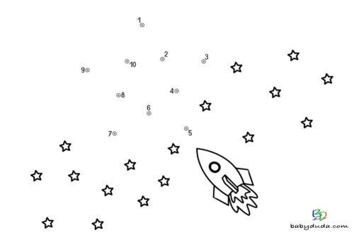Malen nach Zahlen - Stern