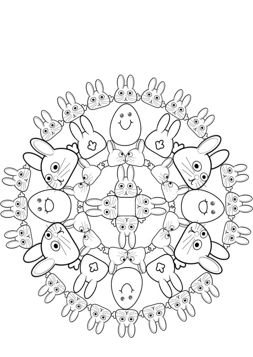 Oster Mandala zum ausmalen   BabyDuda