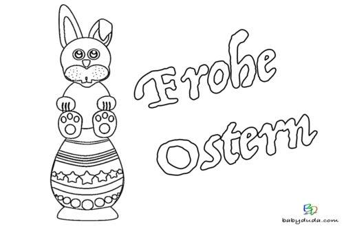 Ostern Ausmalbild Hase und Osterei