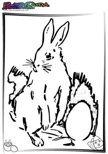 Ostern Ausmalbilder Hase Ei