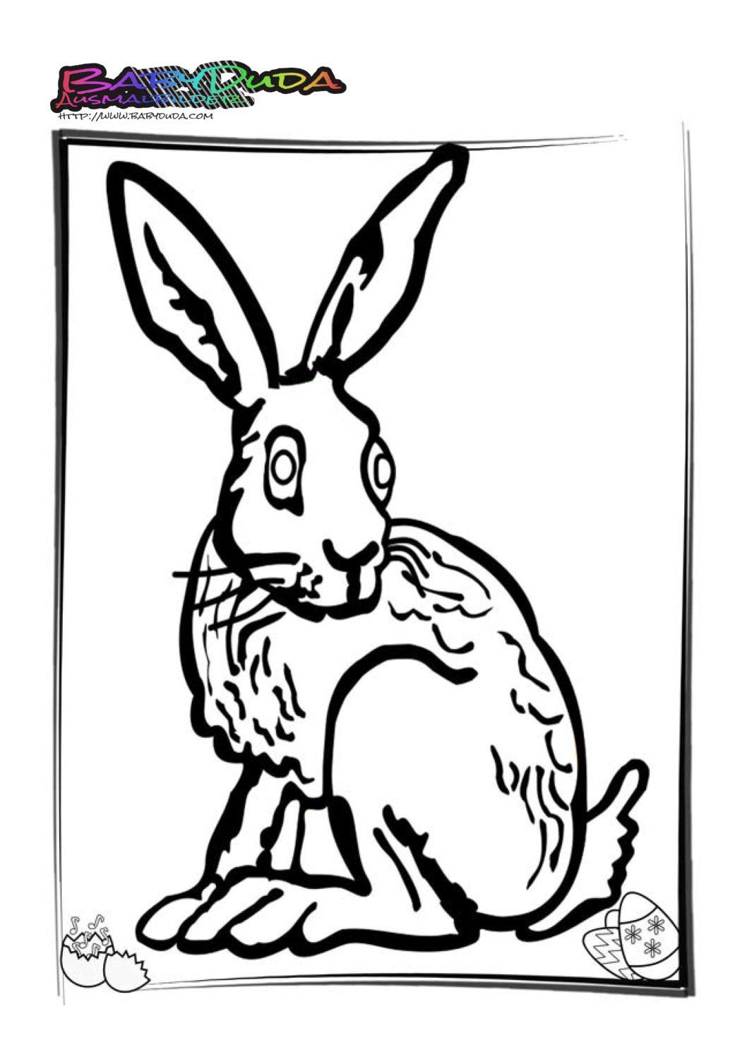 Schön Hase Frohe Ostern Ausmalbilder Ideen - Malvorlagen Von Tieren ...