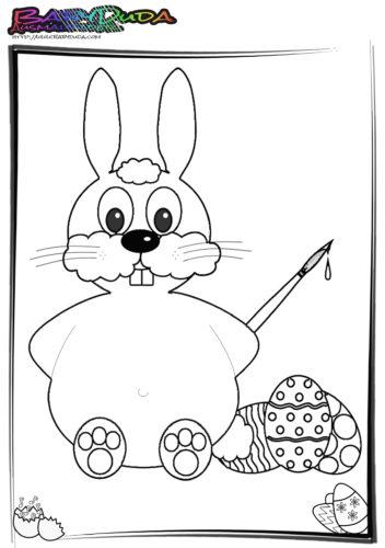 Ostern-Ausmalbilder-niedlicher-Osterhase