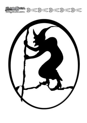 Scherenschnitt Basteln Hexe
