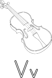 V for violin for coloring