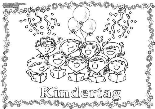 Malvorlage Kindertag