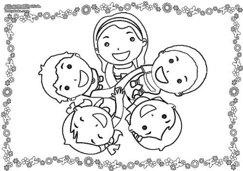 Malvorlage Kinderkreis