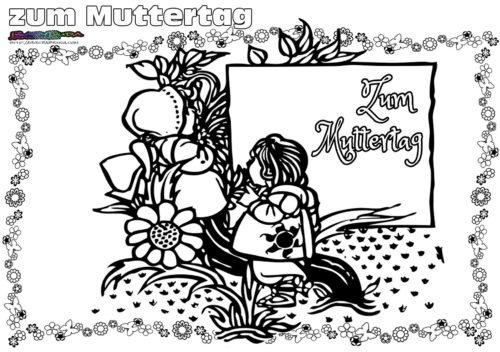 Anspruchsvolle Ausmalbilder Muttertag
