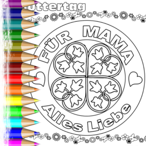 Muttertag Mandala Herz & Ornament Ausmalen | BabyDuda ...