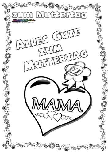 Muttertag Herzen Ausmalbild