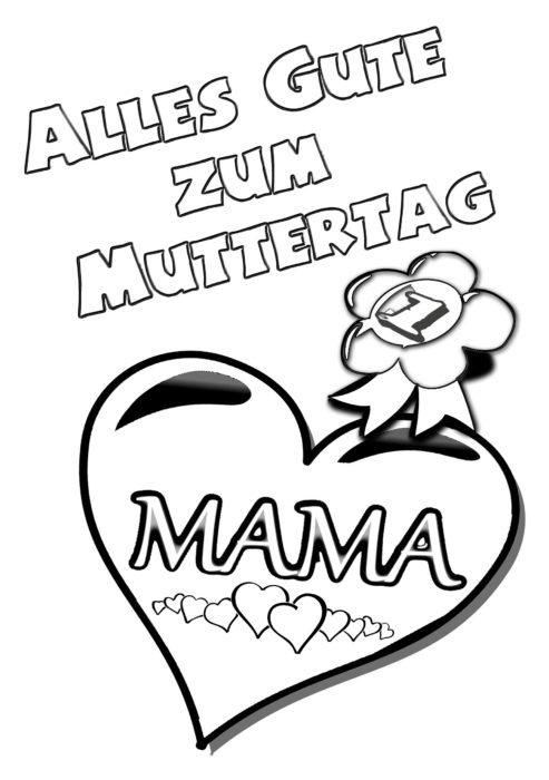 Muttertag-Herzen-Ausmalbild