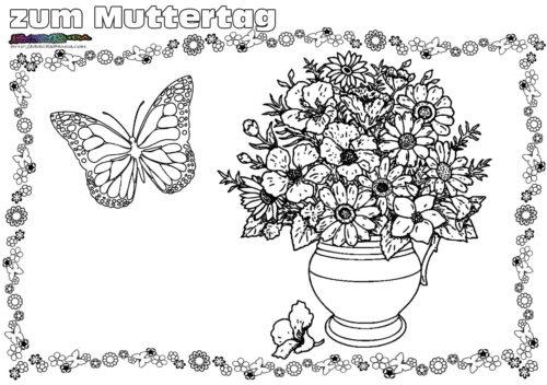Blumenvase Malvorlage