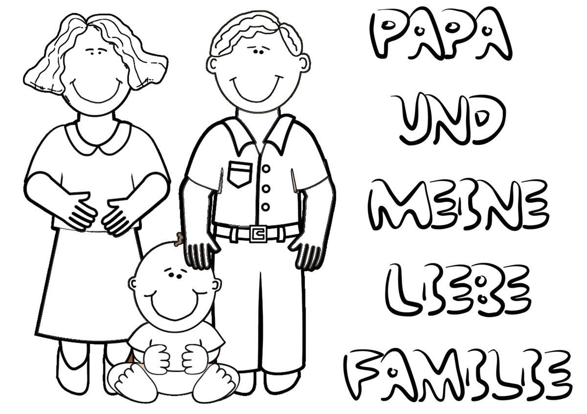 vatertag ausmalbild familie bilder kostenlos downloaden