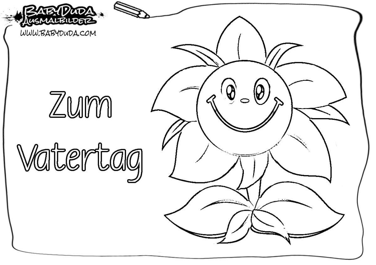Ausmalbilder Zum Vatertag Malvorlagen Kostenlos Babyduda Malbuch