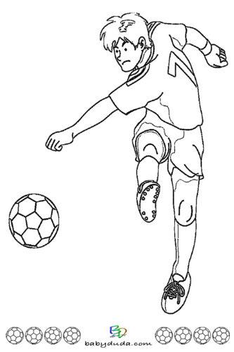 Fussball Ausmalbild