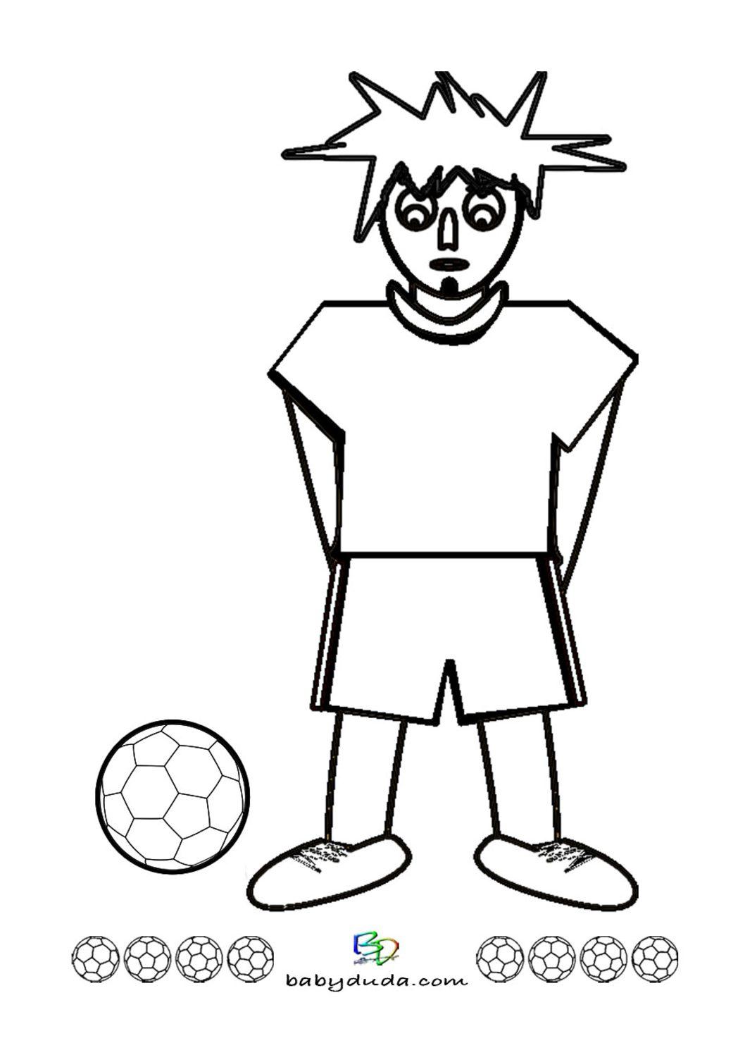 Ungewöhnlich Malvorlagen Für Jungen Fußballspieler Ideen ...