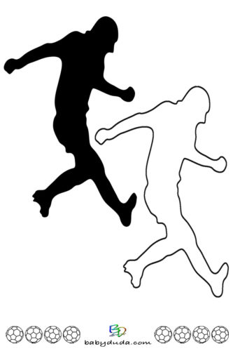 Fußball - Scherenschnitt & Ausmalbild 6