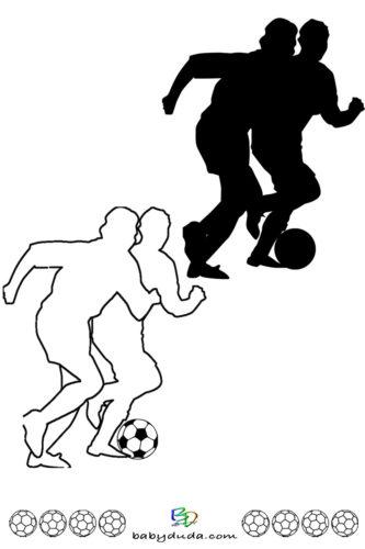 Fußball - Scherenschnitt & Ausmalbild 5