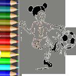 Es soweit: Der Ball rollt. Das Fußballfieber steigt. Tolle Fußball-Ausmalbilder: Malvorlage Fußball. Malbild Kinder beim Fußballspiel. Trikot zum Ausmalen.