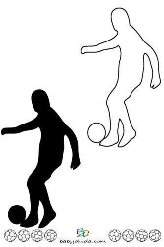 Fußball - Scherenschnitt & Ausmalbild 3