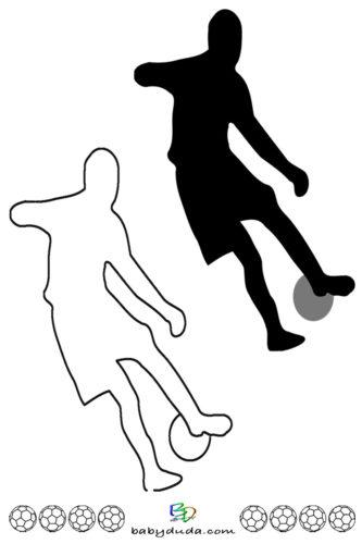 Fußball - Scherenschnitt & Ausmalbild 1