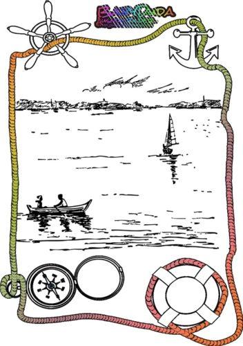Ausmalbild Sommer See