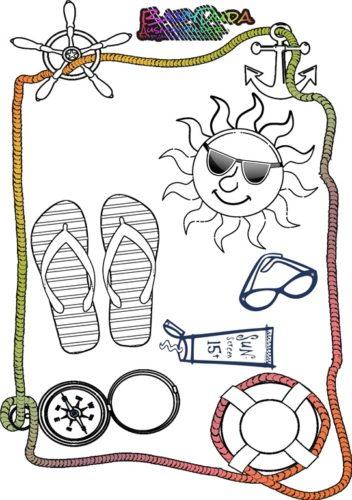 ausmalbilder sommer ☼ urlaub ☼ ferien ☼ strand | babyduda