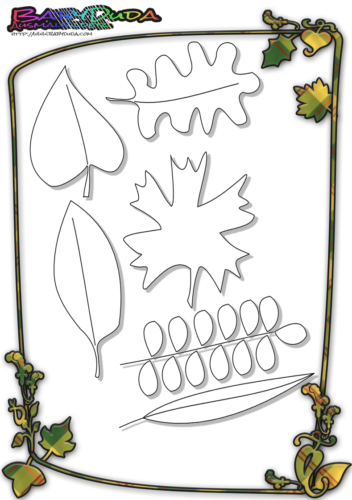 Herbstblatt-Ausmalbild-Herbstlaub