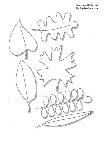 Herbstblatt-Ausmalbilder