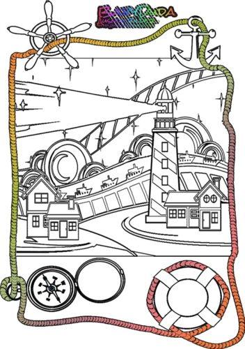 Malbild Leuchtturm